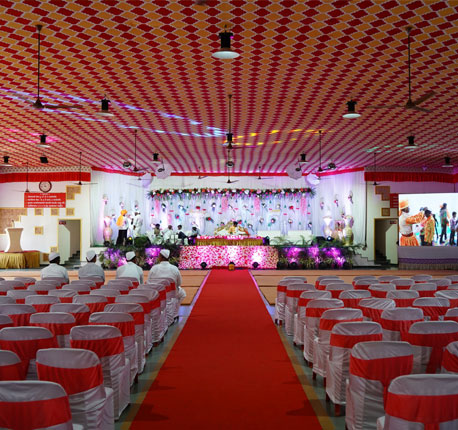 Jeevan Marriage Hall decoration with LED Screen and other modern amenities