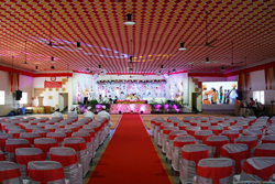 Marriage Hall decoration with LED Screen and other modern amenities